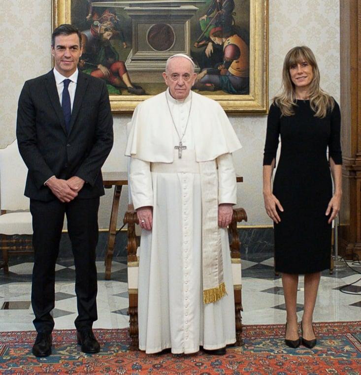 Der Präsident der Spanischen Regierung, Pedro Sánchez Pérez-Castejón traf sich heute mit Papst Franziskus im Vatikan