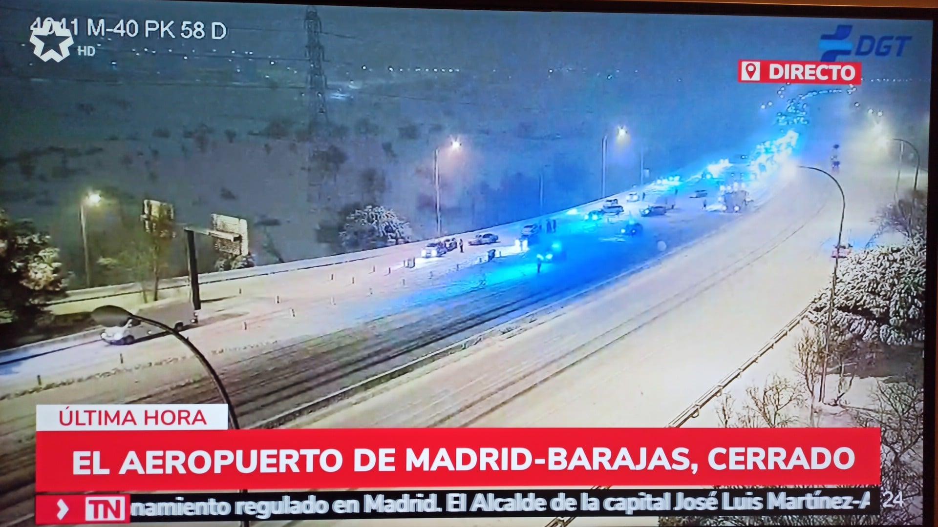 Alle Zug und Flugverbindungen nach und von Madrid aufgrund starken Schneefalls heute Samstag 9.1.2021 ausgesetzt