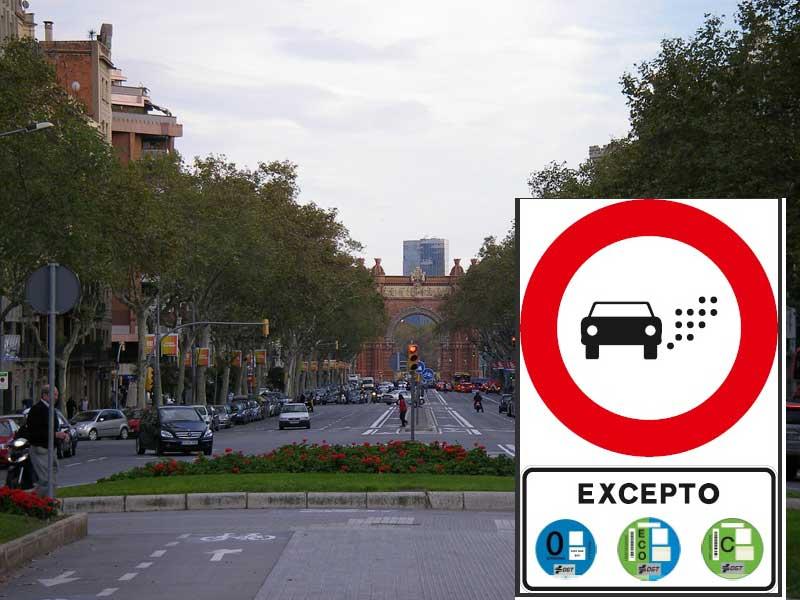 Neues Spanisches Verkehrszeichen für Umweltzonen