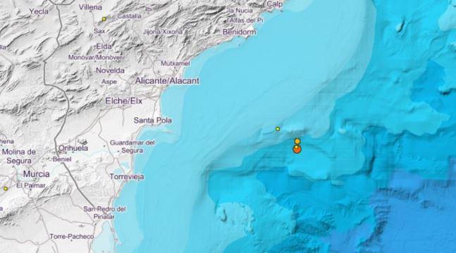 Erdbeben Küste Alicante