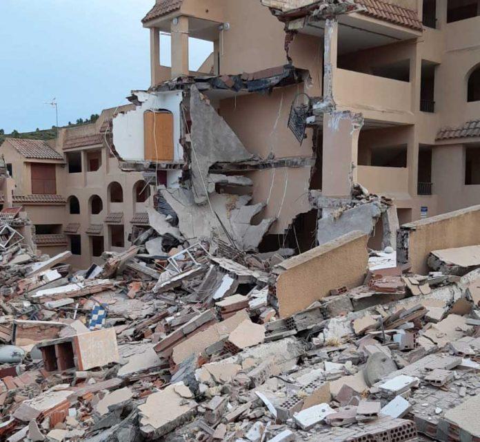Peñíscola Gebäude eingestürzt