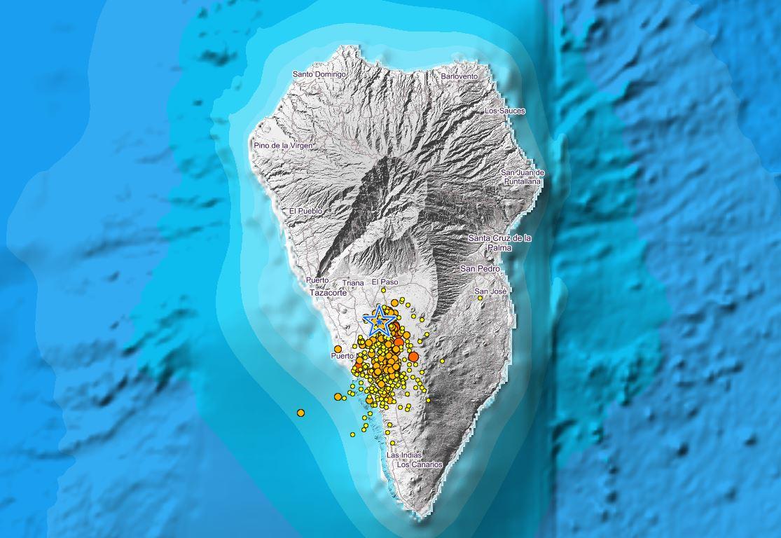 Vulkanausbruch des Cumbre Vieja auf La Palma immer wahrscheinlicher 327 Erdbeben heute morgen bis zu Stärke 4,2 auf der Richterskala