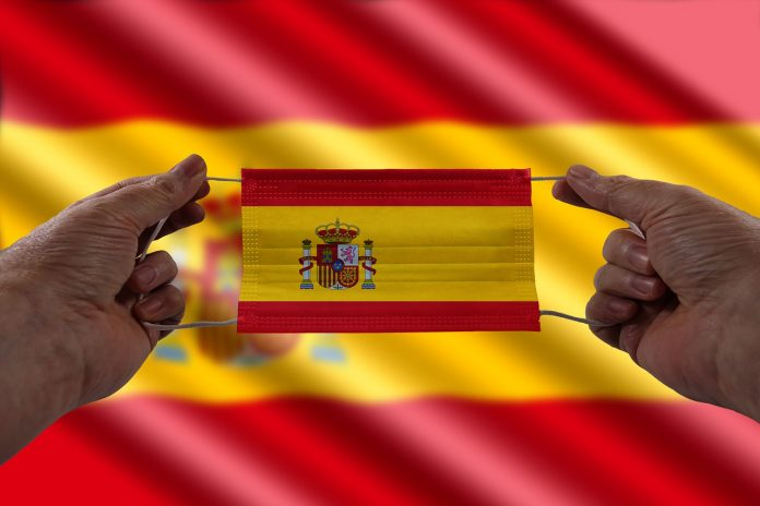 Maske Spanien