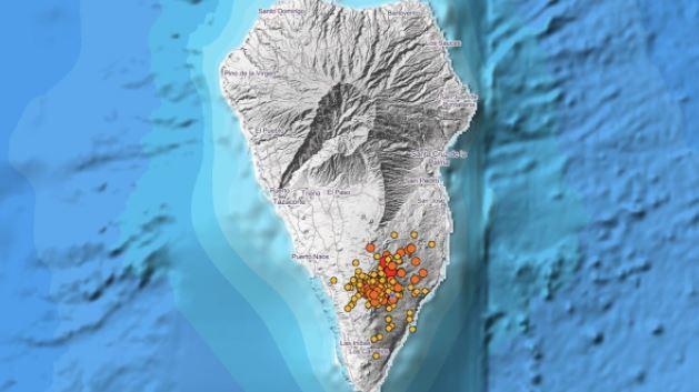 La Palma registriert ein Erdbeben von 4.8 das größte seit dem Ausbruch des Cumbre Vieja